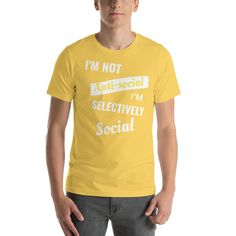 Selectively Social  T-Shirt - Yellow / M
