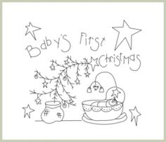 Baby's First Christmas - Embroidery | YouCanMakeThis.com