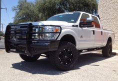 Ford Superduty with Ranch Hand Legend Front Bumper and souped up wheels and rims