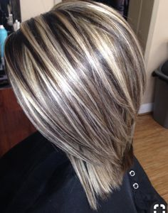 Blonde highlights on brown hair