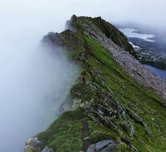Mountain hike in Lofoten, Norway scandinavia