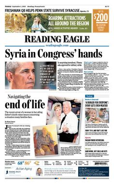 Today's front page Sept. 1, 2013