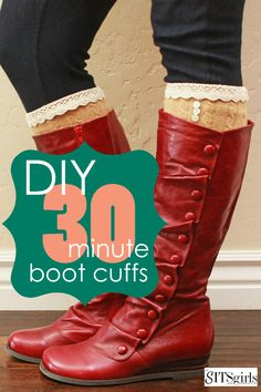 DIY Boot Cuffs (and I don't even own a pair of boots, I just thought the idea was awesome!)