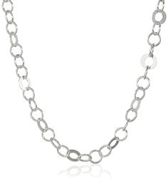 Sterling Silver Circle Link Chain Necklace, 30' *** For more information, visit image link.
