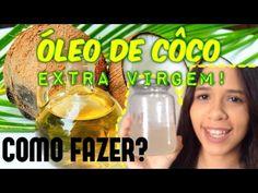 Como fazer óleo de coco extra virgem fácil - YouTube