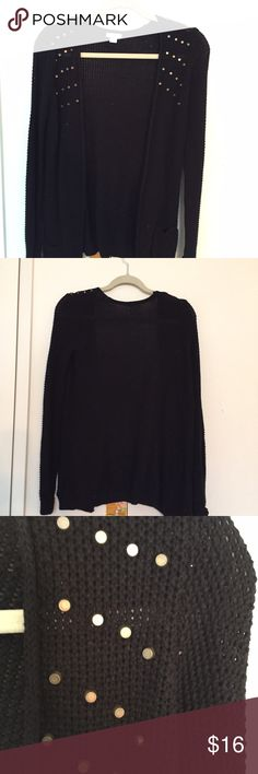 Black cardigan Size XS black cardigan with studded detail Xhilaration Sweaters Cardigans