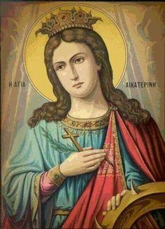 St Catherine Of Alexandria, Saint Katherine, Byzantine Icons, Orthodox Christianity, Holy Family, Orthodox Icons, Tall Women, Mona Lisa, Disney Characters