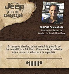 Tip de conducción de Enrique Cammarata, director de la escuela de conducción Jeep® Off Road Park.