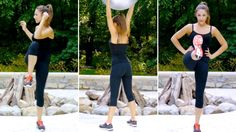 Quick At-Home Toning Exercises! ♥ (Abs, Legs, Butt). Such a great workout to do on those days you just wanna do something