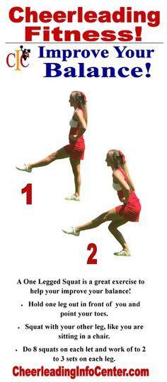 cheerleading stunting Exercises for Cheerleaders - Balancing Exercises for Flyers Cheerleading Workouts, Cheer Tryouts, Cheer Coaches, Cheer Stunts, Cheer Dance, Cheer Mom, School Cheerleading, Cheerleading Outfits, Cheerleading Stretching