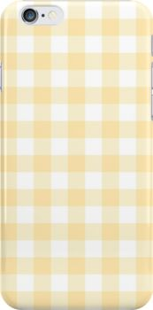 Yellow Gingham Snap Case for iPhone 6 & iPhone Blue Daisy, Cover Model, Style Snaps, Dresses With Leggings, Sell Your Art, Art Boards, Iphone Case Covers, Protective Cases, Cover Design