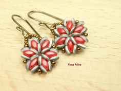 Con perlas y más...: Pendientes con O-beads PE.0423