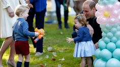 The royals are back in their home base of Victoria as they near the end of a week-long visit and are meeting with local families at a children's party today.