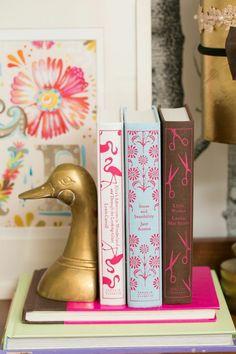 Kristin Jackson's Atlanta Home Tour // styling // books // duck book end // Photography by Amanda Coker, Dash Photography