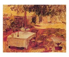 Paper: 20 x 24 Image: 18 x 22 World Famous artist, Pierre Bonnard painted this picnic scene of a warm summer day. It is a classic art print. A poster from a museum quality artist. Great for residentia