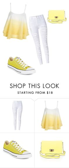"""""""Untitled #87"""" by lovefashion223 ❤ liked on Polyvore featuring WithChic, Converse and Merona"""