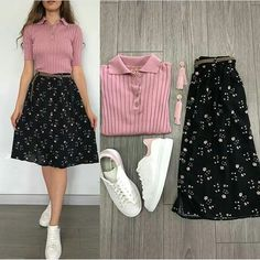 Cute Casual Outfits, Simple Outfits, Pretty Outfits, Stylish Outfits, Teen Fashion Outfits, Cute Fashion, Fashion Dresses, Moda Fashion, Stylish Dresses