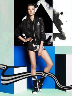 Rita Ora Adidas Originals White Smoke PacSun Lookbook Pics | NYLON