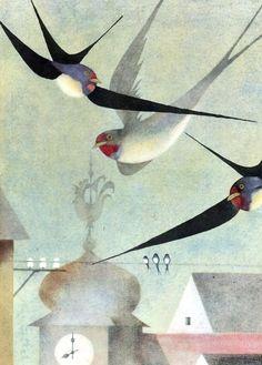 cinque-del-mattino:  Ota Janecek   Czech, 1919 – 1996   Swallows