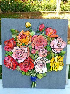 Mosaic Crafts, Mosaic Art, Mosaic Glass, Mosaic Tiles, Glass Art, Mosaic Madness, Mosaic Flowers, Broken China, Flower Pictures