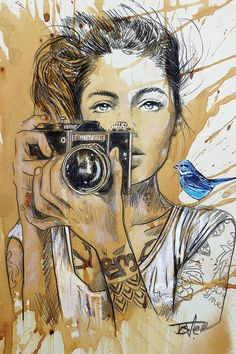 View LOUI JOVER's Artwork on Saatchi Art. Find art for sale at great prices from artists including Paintings, Photography, Sculpture, and Prints by Top Emerging Artists like LOUI JOVER. Kunst Inspo, Newspaper Art, Camera Art, Wow Art, Portrait Art, Portrait Paintings, Art Paintings, Canvas Art Prints, Blue Bird