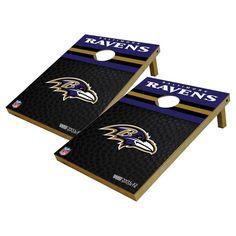 NFL Baltimore Ravens Wild Sports Platinum Shield Cornhole Bag Toss Set
