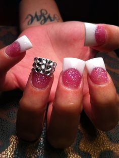 Duck feet shaped nails..I LOVE them! I want my nails done just like this next time!!!