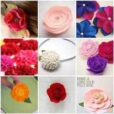 Caixinha de Pirlimpimpim: DIY °•● felt flowers