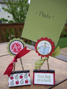 idea for a binder clip (great idea to modify for displaying prices etc. at a craft show,)