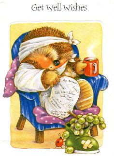 Get Well Soon - Jeanette - Picasa Web Album Clip Art Pictures, Cute Pictures, Hedgehog Illustration, Decoupage, Well Images, Get Well Wishes, Cicely Mary Barker, Baby Painting, Cute Hedgehog