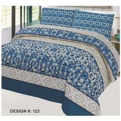 Guaranteed Cotton Printed Bed Sets [All Sizes] Design CC-297