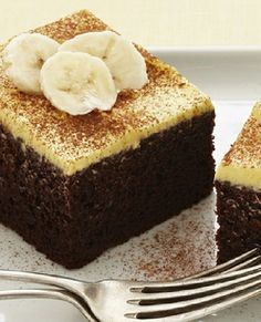 Low FODMAP Recipe and Gluten & lactose free Recipe - Chocolate & banana cake http://www.ibssano.com/low_fodmap_dessert_chocolate_banana_cake.html