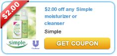 $2.00 off any Simple moisturizer or cleanser