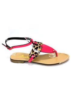 273cf4af195e Add these adorable Fuchsia and leopard print sandals to your shoe closet.  These are suitable
