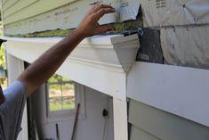 Decorative Trim Above Garage Door Garage Door Trim, Carriage Garage Doors, Garage Door Decor, Garage Door Makeover, Garage Entry, Roof Trim, Pvc Trim, Roof Boards, Pvc Roofing