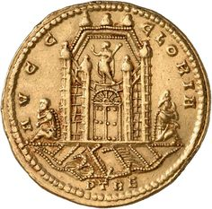 Reverse of a golden medallion from Treviri. Münzkabinett, Staatliche Museen zu Berlin, 18200450.