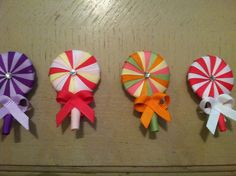 Lollipop Candy Hair Clip  Ribbon Sculpture by IsabeauGrace on Etsy, $3.00