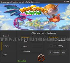 The next hack Created by Useful For Games team is the Dragons World hack. We made it to help you in this super game. http://usefulforgames.com/dragons-world-hack