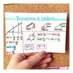 MATEMÁTICA - TRIGONOMETRIA NO TRIÂNGULO RETÂNGULO. #resumosonhodamedicina #resumos #matematica