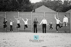 large fun family pose, good to have adults not jumping as never the most flattering of poses but great fun for kids