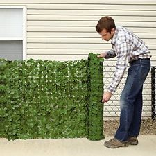 Faux Ivy Privacy Screen, Adds privacy to your backyard