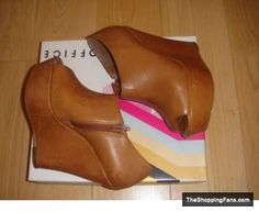 cute brown wedges  The Shopping Fans