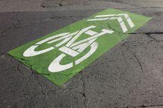 green backed SHARROW Symbols, Street, Logos, Logo, Walkway, Glyphs, Icons