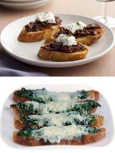 What's the Difference: Crostini vs. Bruschetta from Food Network How To Cook Polenta, Thing 1, Cereal Recipes, Original Recipe, Clean Eating Snacks, Prosciutto, Bruschetta, Food Network Recipes, Food Dishes