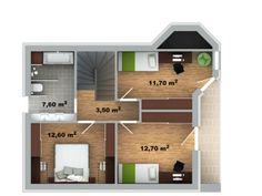 půdorys domu Pavla 10A Architectural House Plans, Small Homes, Tuna, How To Plan, Room, Home Plans, Bonito, Home, Modern
