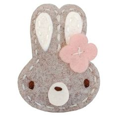 heather bunny felt hair clip from Pink Olive - $10.00