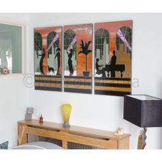 High Society Original Handcrafted Art Deco Mirror Art -  #bigartboost #GBHour #UKBizLunch