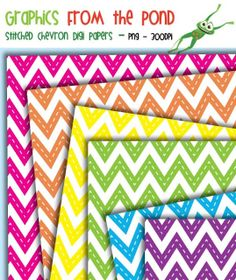 FREE Stitched Chevron Digi Papers