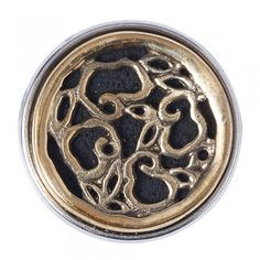 Noosa Chunk HERA black / gold lava stone / brass