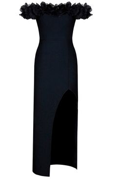 Dream it Wear it - Petal Bardot Slit Evening Bandage Dress Black, $161.33 (http://www.dreamitwearit.com/petal-bardot-slit-evening-bandage-dress-black/)